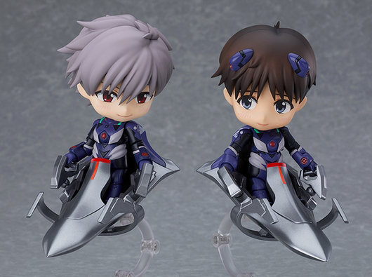 Kaworu and Shinji Nendoroids Plugsuit Ver Rebuild of Evangelion