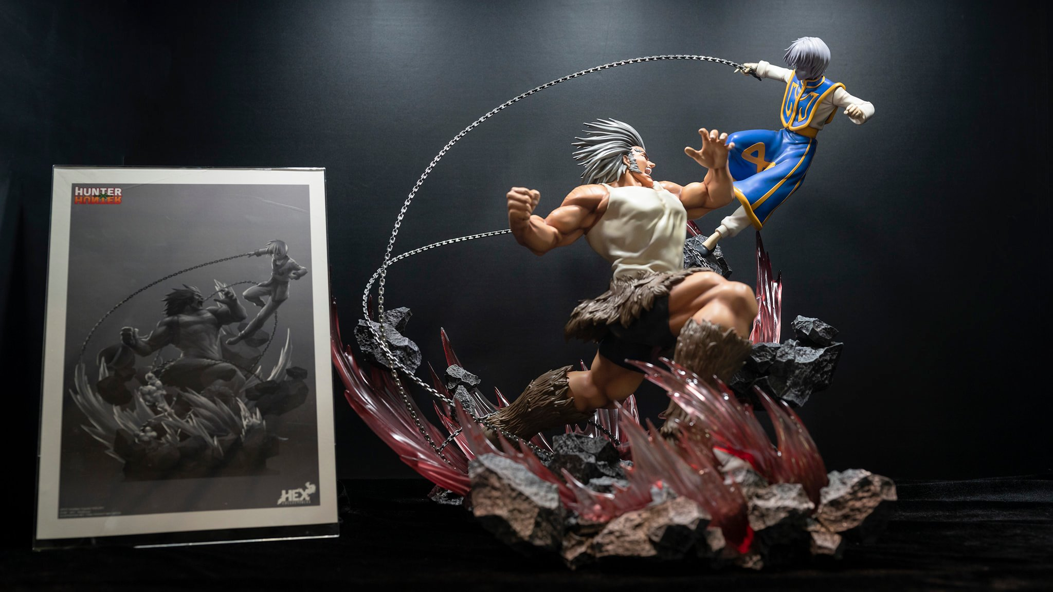 Hex Collectibles Kurapika vs Uvogin Statue 2