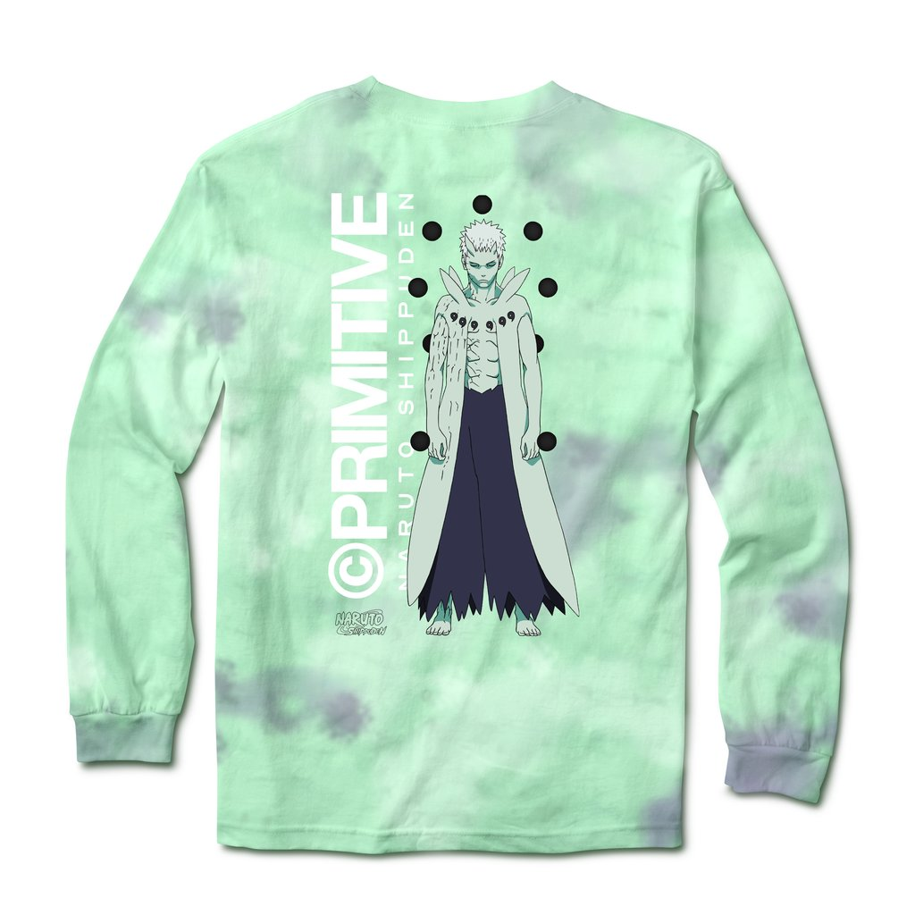 Primitive Naruto Shippuden Delivery 2 - Obito Washed Long-Sleeve T-Shirt