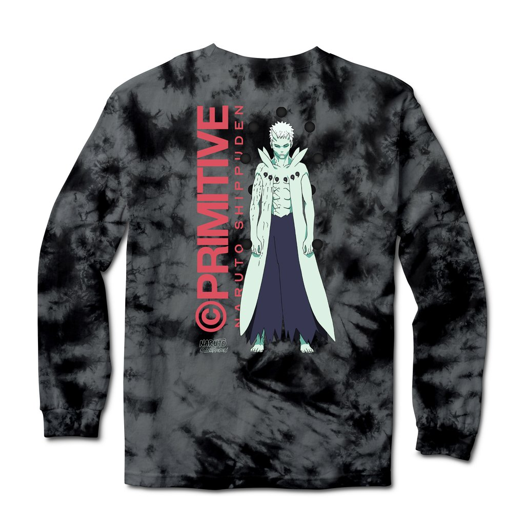 Primitive Naruto Shippuden Delivery 2 - Obito Washed Long-Sleeve T-Shirt Black
