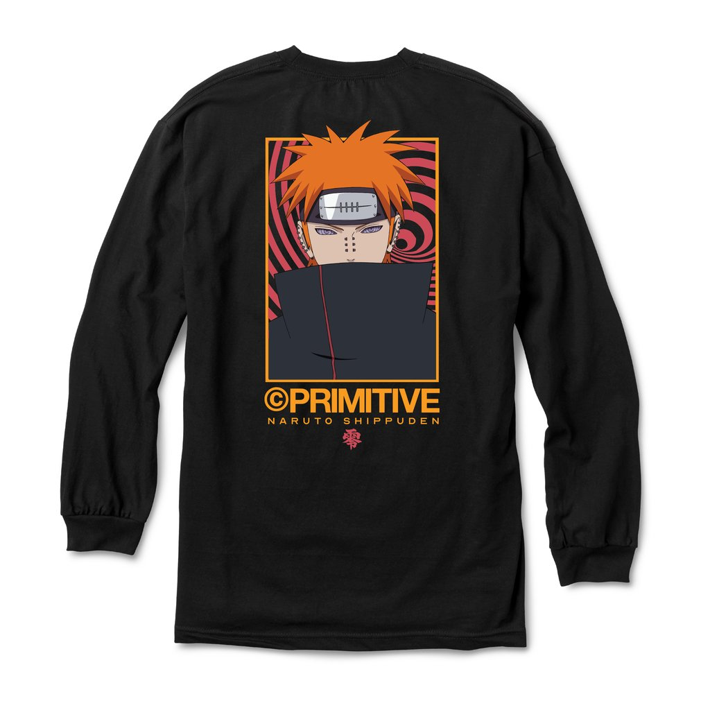 Primitive Naruto Shippuden Delivery 2 - Pain Long-sleeve T-shirt Back