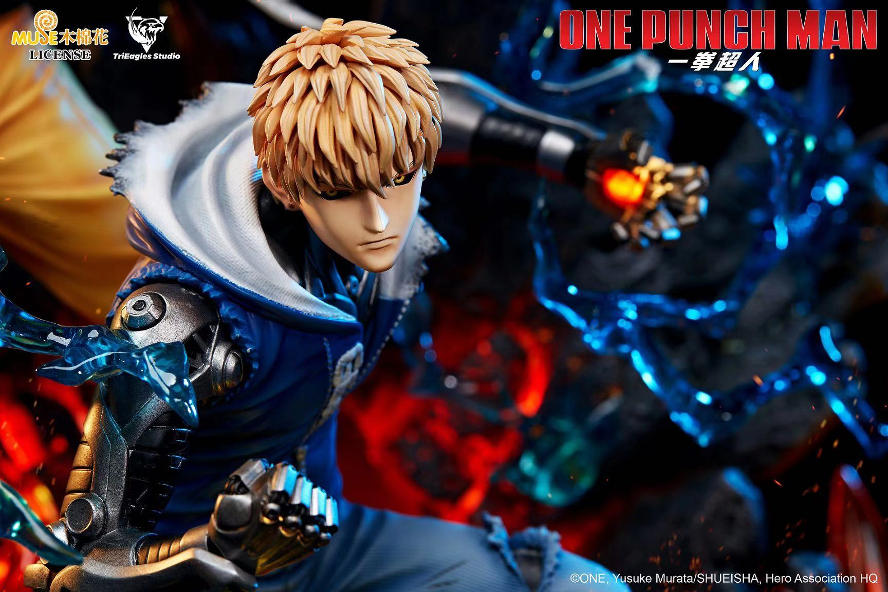 trieagles studio one punch man genos saitama statue 3