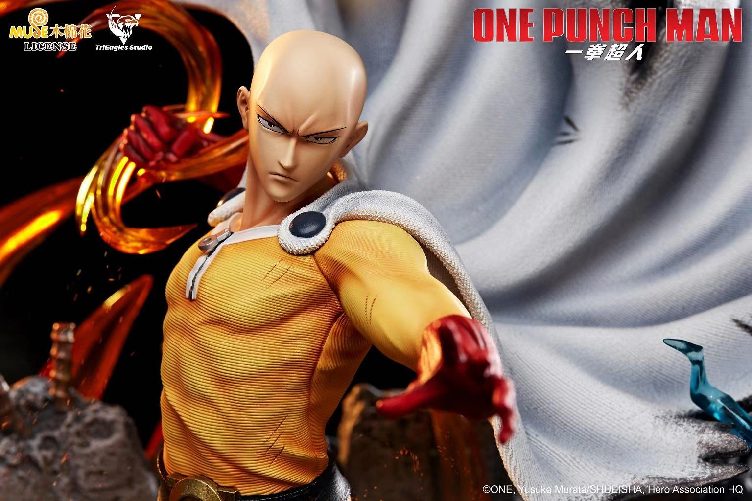 Trieagles Studio One Punch Man Saitama Genos Statue