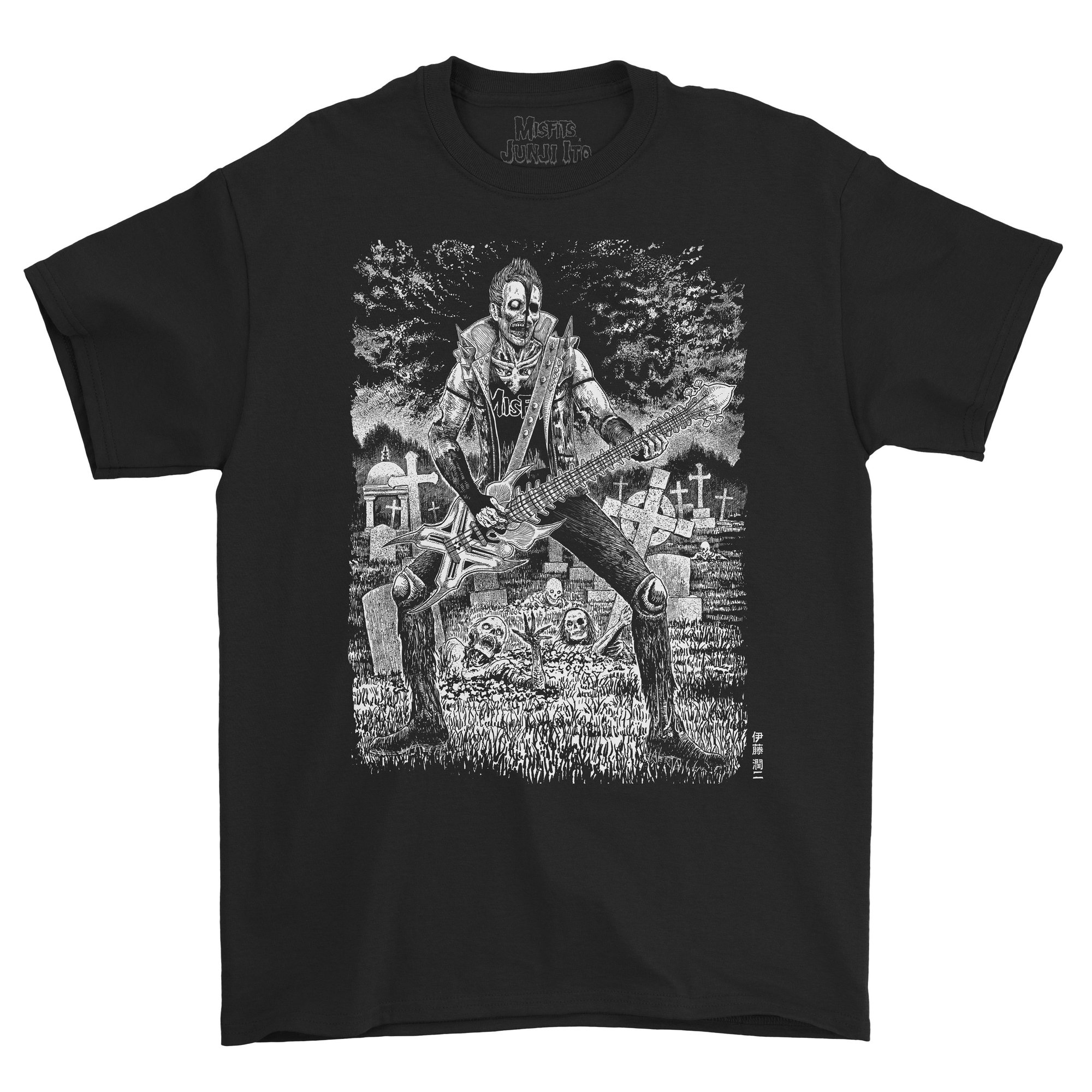 CR Loves Misfits x Junji Ito Collection Short-Sleeve T-Shirt Zombie Front
