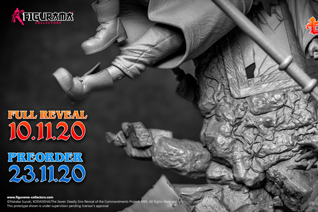 Figurama Tease Upcoming Seven Deadly Sins Statue of Ban vs King