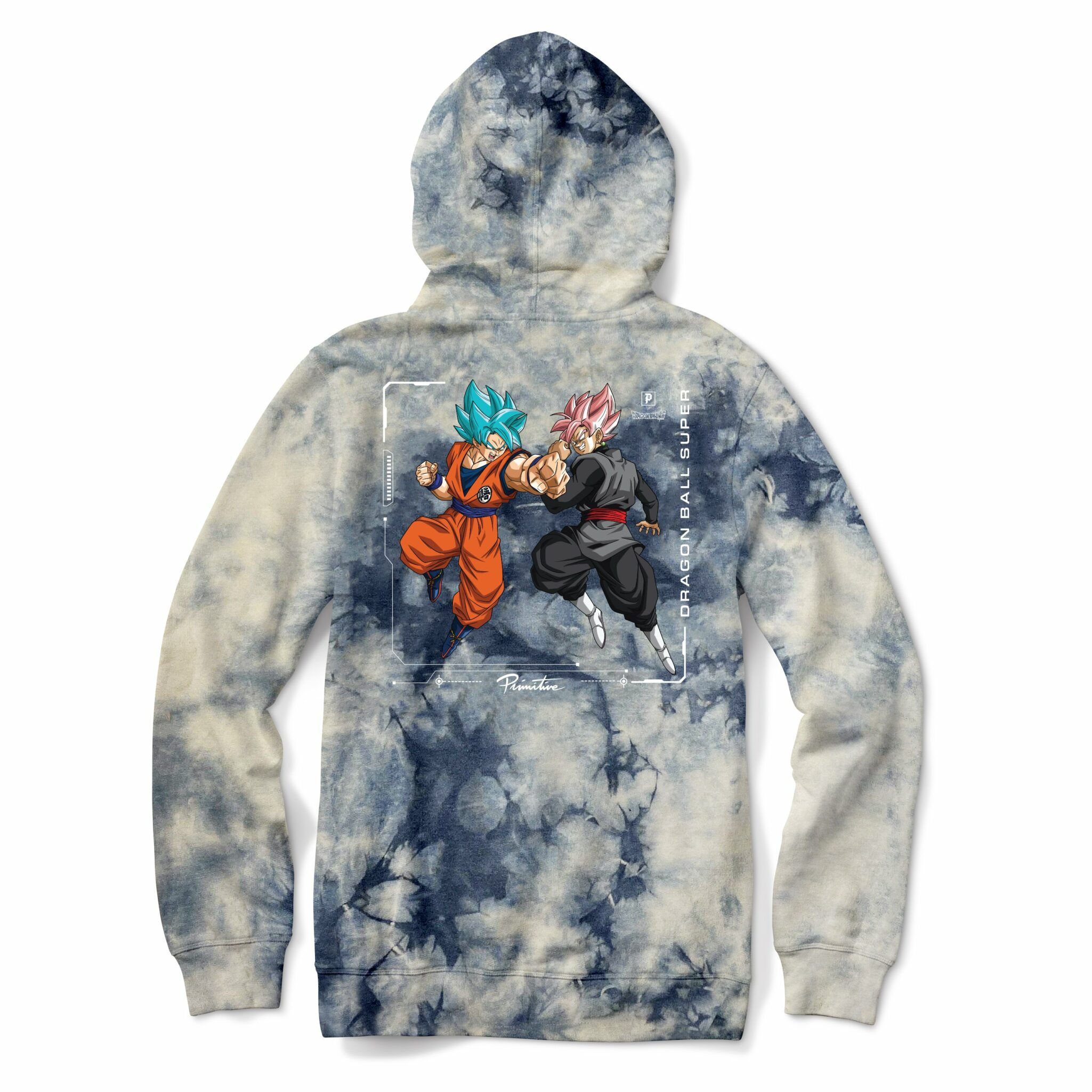 Primitive x Goku Black Rosé Capsule Collection Goku Versus Washed Hoodie