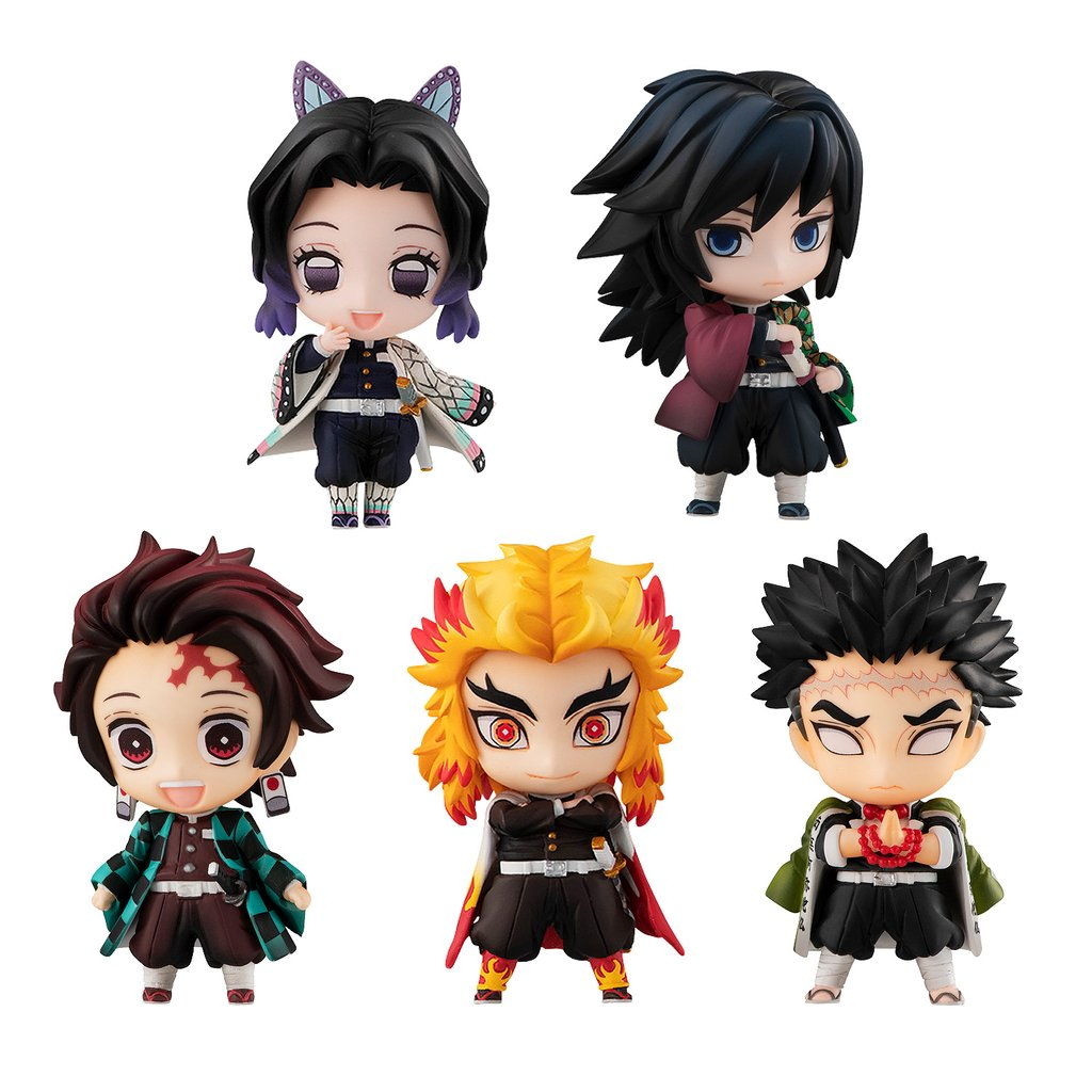 Demon Slayer: Kimetsu no Yaiba Tanjiro and Hashira Mascot Set A