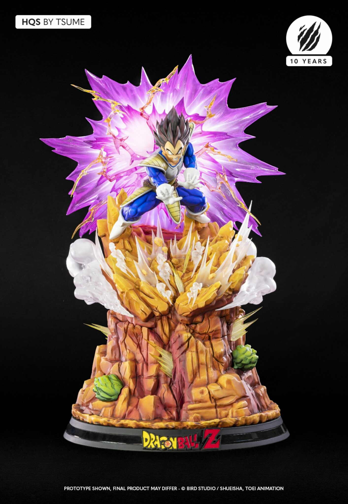 Tsume Vegeta Galick Gun Dragon Ball Z Statue