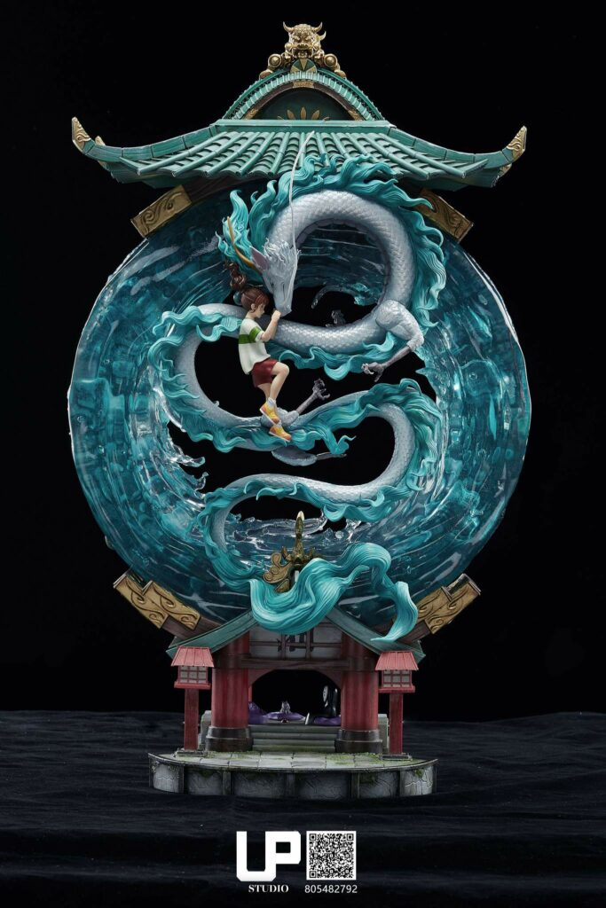 Up Studios Spirited Away Chihiro Ogino & Haku (Dragon Form) 1/6 Scale Statue Front