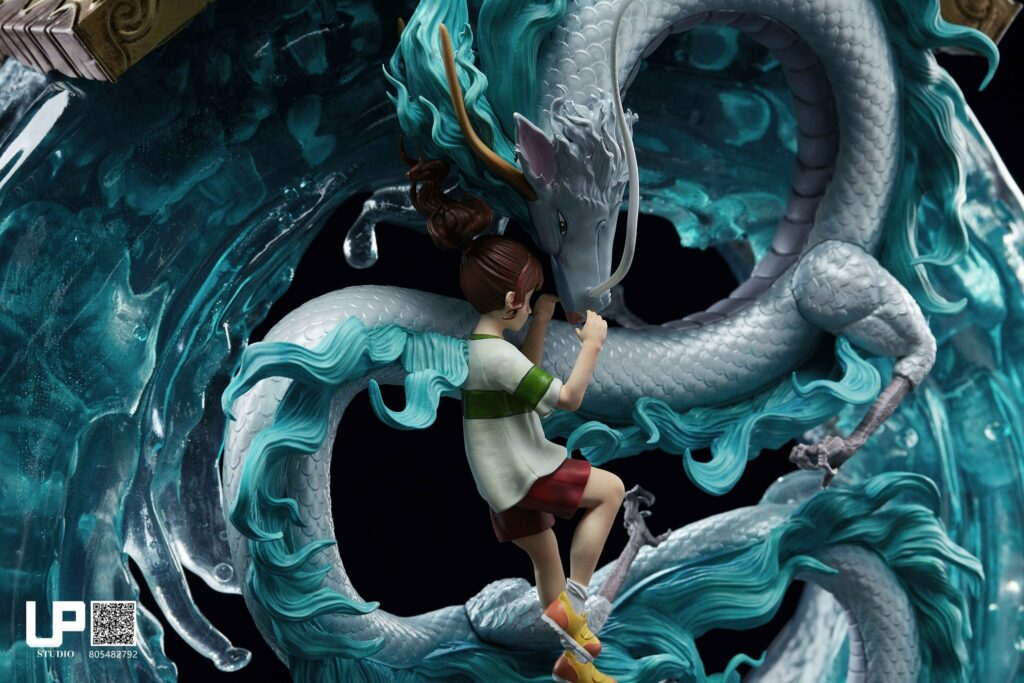 Up Studios Spirited Away Chihiro Ogino & Haku (Dragon Form) 1/6 Scale Statue 2