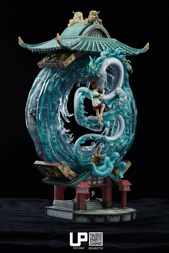 Up Studios Spirited Away Chihiro Ogino & Haku (Dragon Form) 1/6 Scale Statue Side