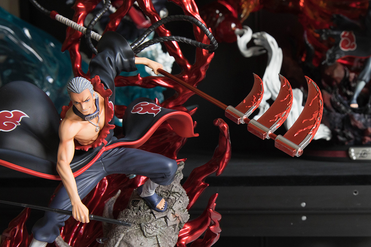 Clouds Studio Hidan Statue Triple-Bladed Scythe