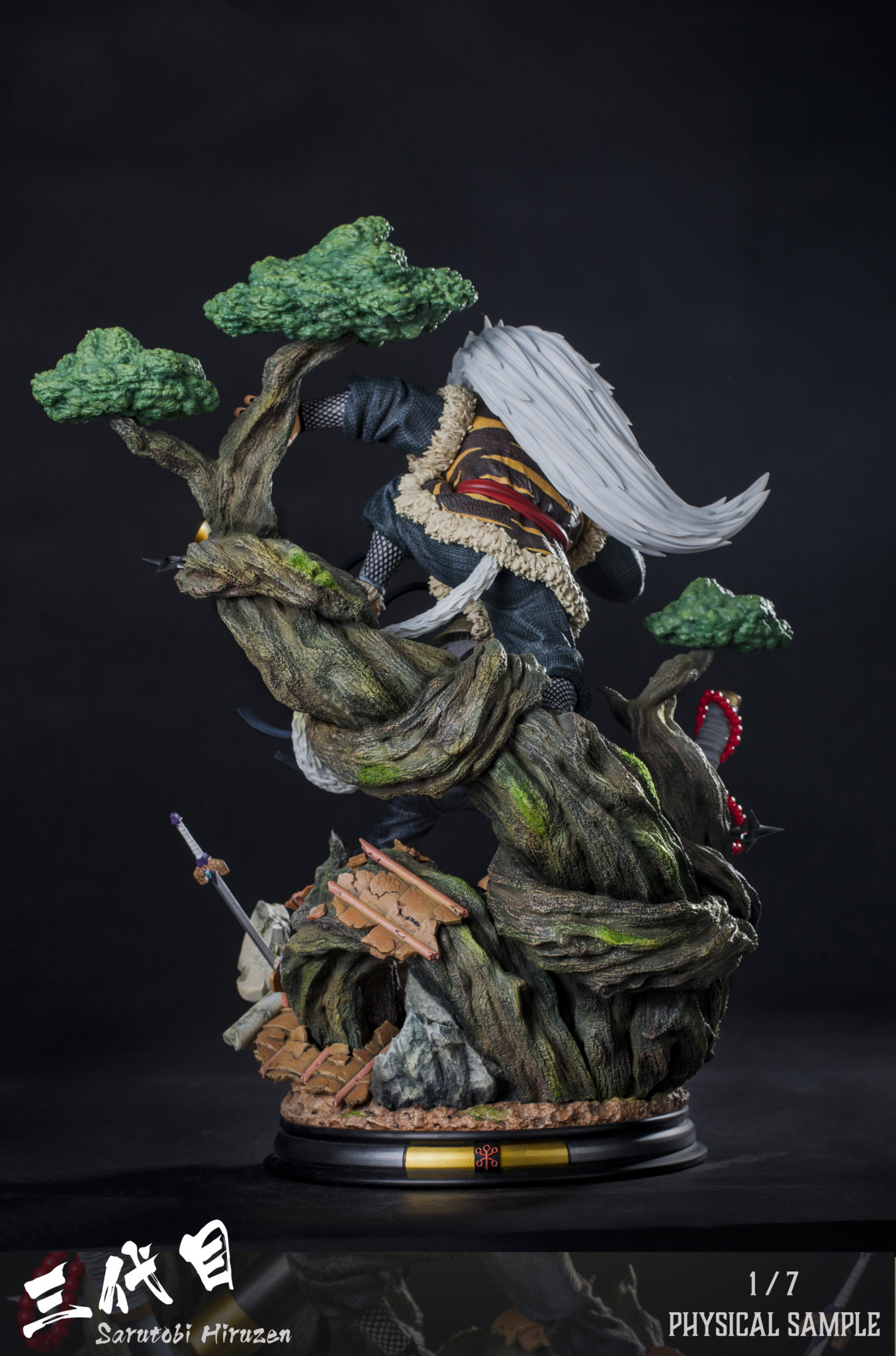 Clouds Studio Hiruzen Sarutobi 1/7 Scale Statue Back