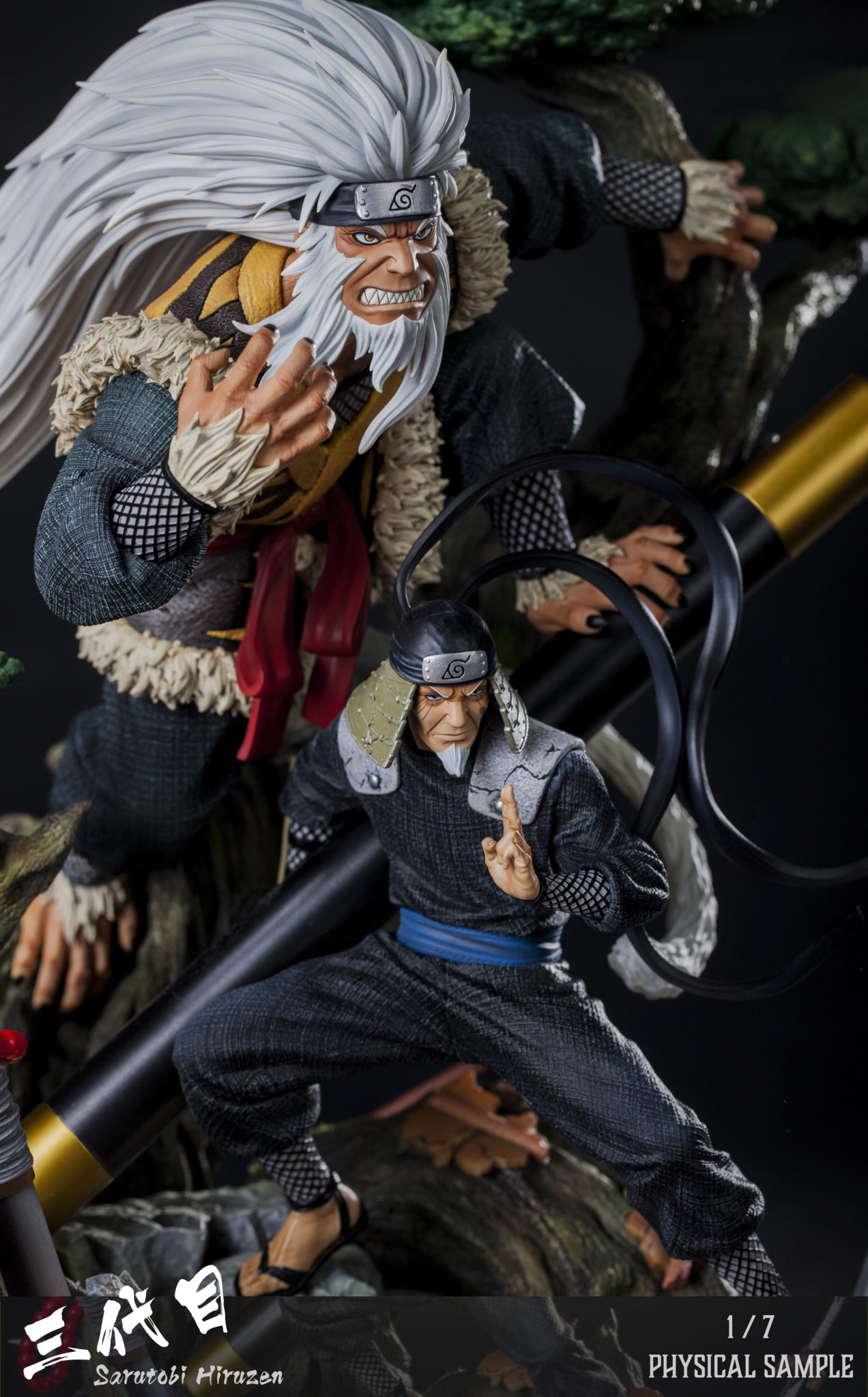Clouds Studio Hiruzen Sarutobi 1/7 Scale Statue Closeup 2