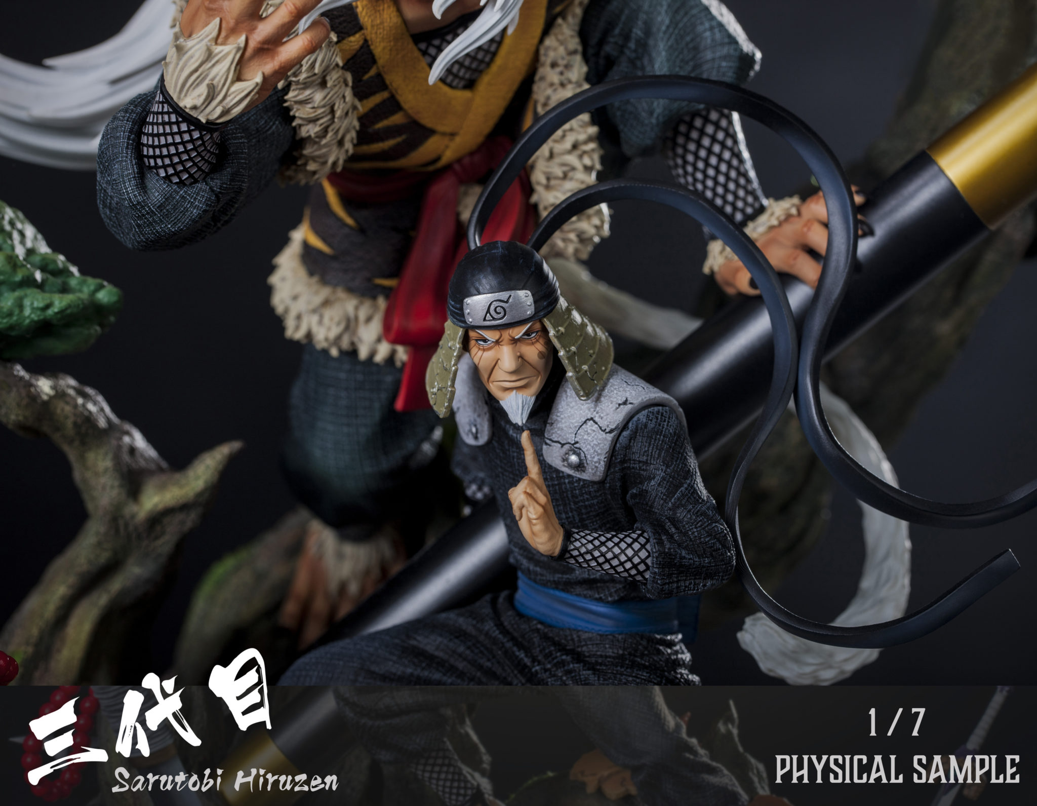 Clouds Studio Hiruzen Sarutobi 1/7 Scale Statue Closeup