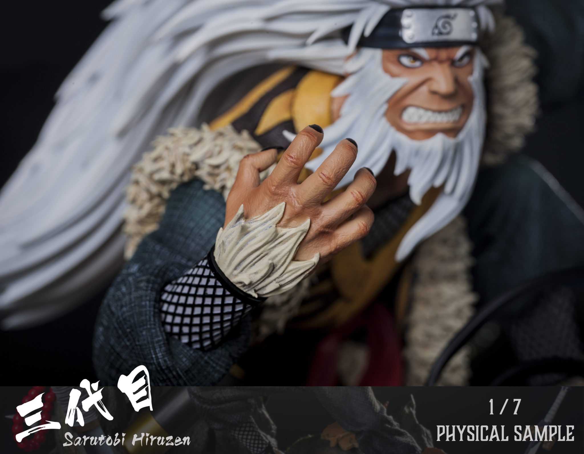Clouds Studio Hiruzen Sarutobi 1/7 Scale Statue Moneky King Enma Closeup 2