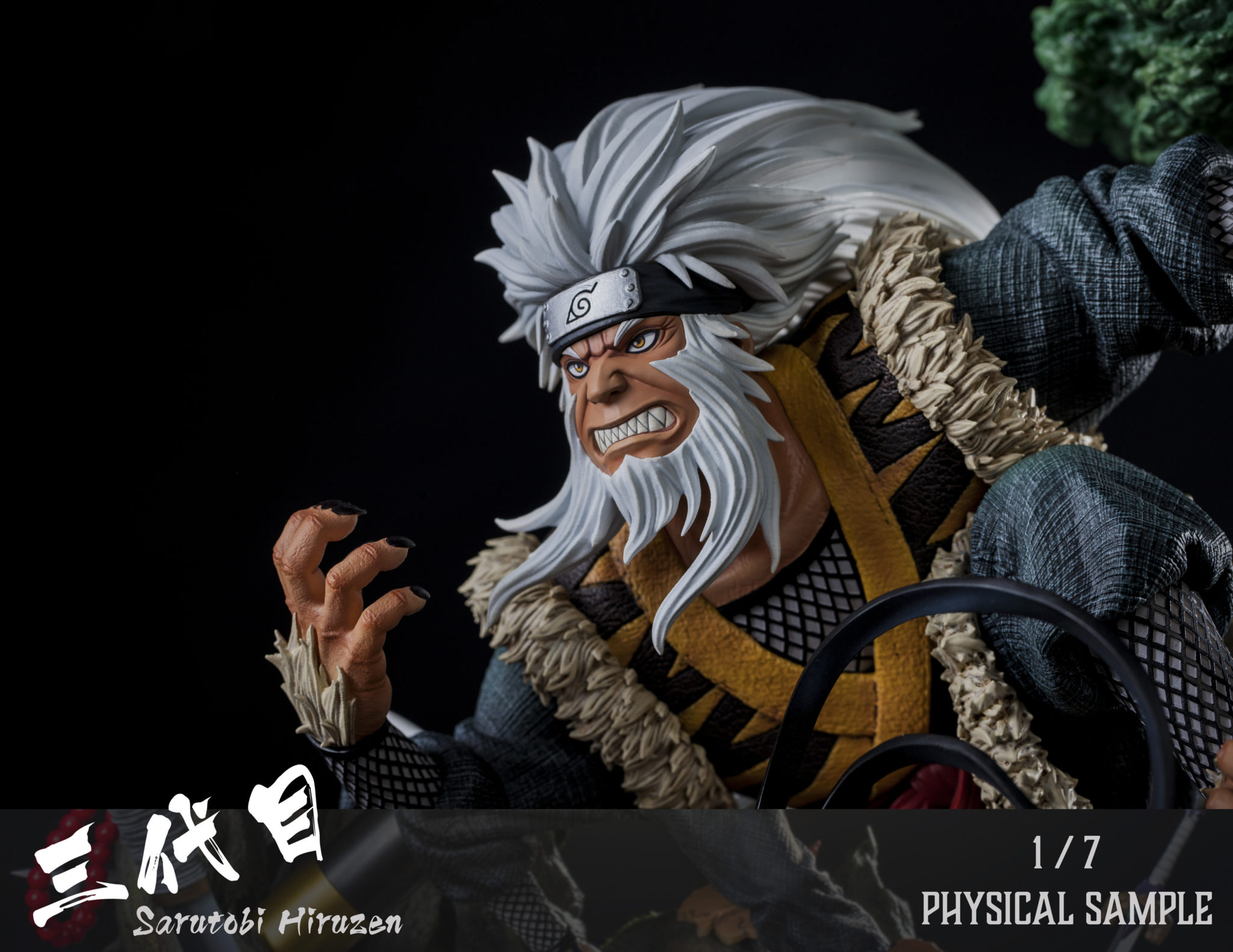 Clouds Studio Hiruzen Sarutobi 1/7 Scale Statue Moneky King Enma Closeup