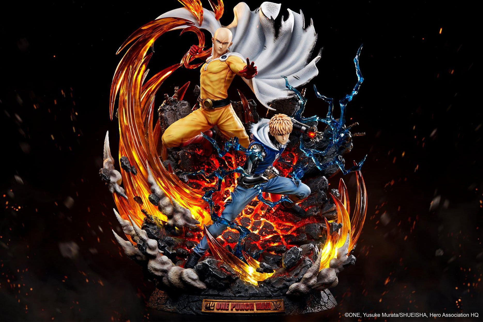 TriEagles Studio One Punch Man Saitama & Genos 1/6 Scale Statue