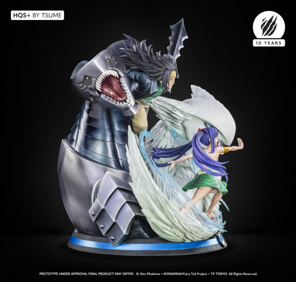 tsume Gajeel and Wendy HQS statue side view 1 1