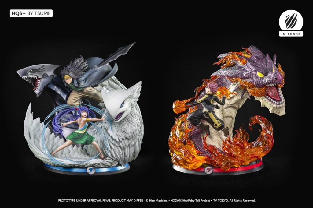 Tsume Gajeel & Wendy HQS+ Statue with Tsume Natsu Dragon Slayer Statue