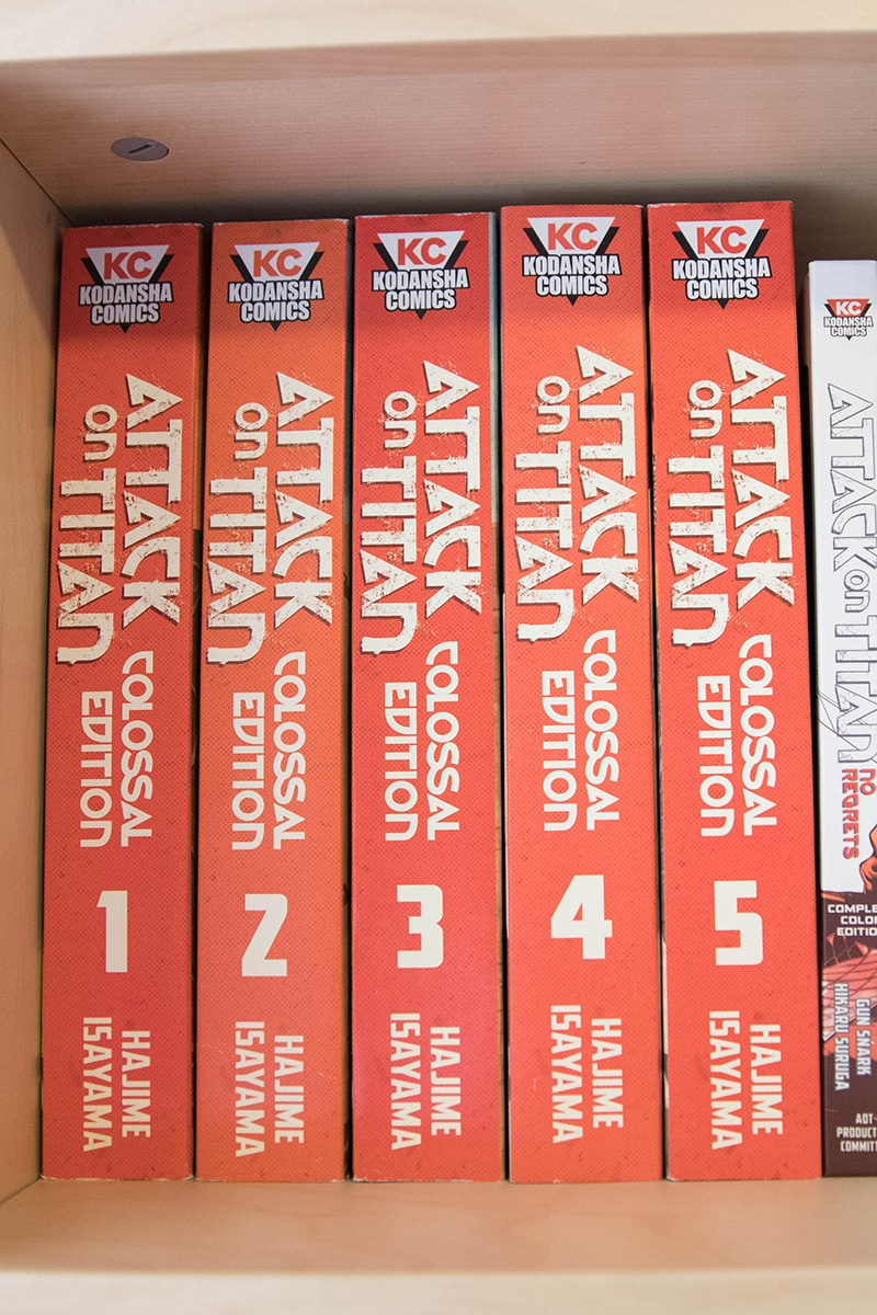 Attack on Titan Colossal Editions On Shelf