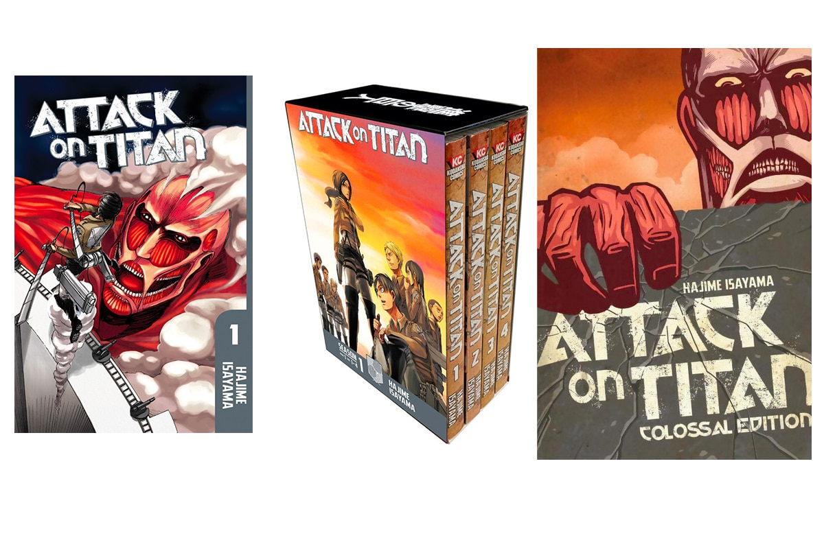Differences between the Attack on Titan individual volumes, box sets, and Colossal Editions