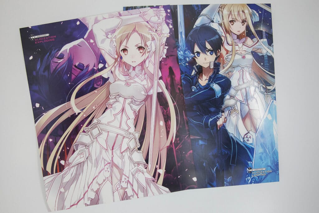 Sword Art Online Platinum Collector's Edition Box Set Exclusive Prints