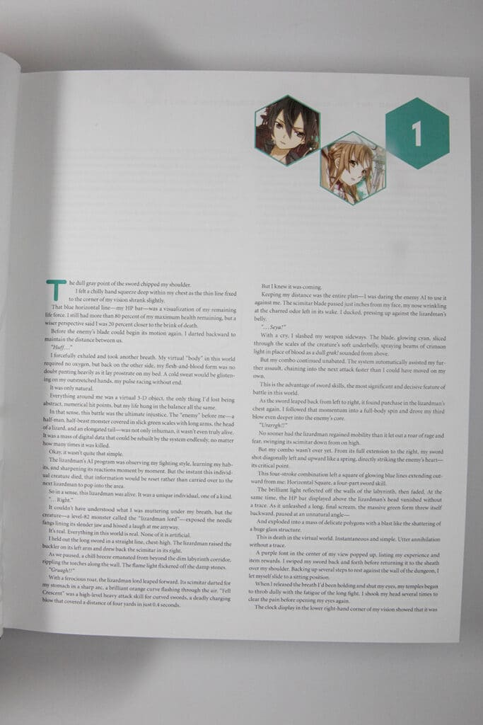 Sword Art Online Platinum Collector's Edition Box Set Inside Look Text Size
