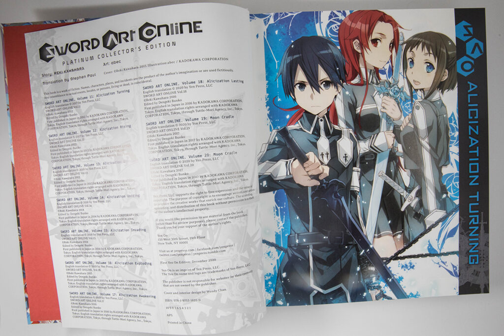 Sword Art Online Platinum Collector's Edition Box Set Inside Look