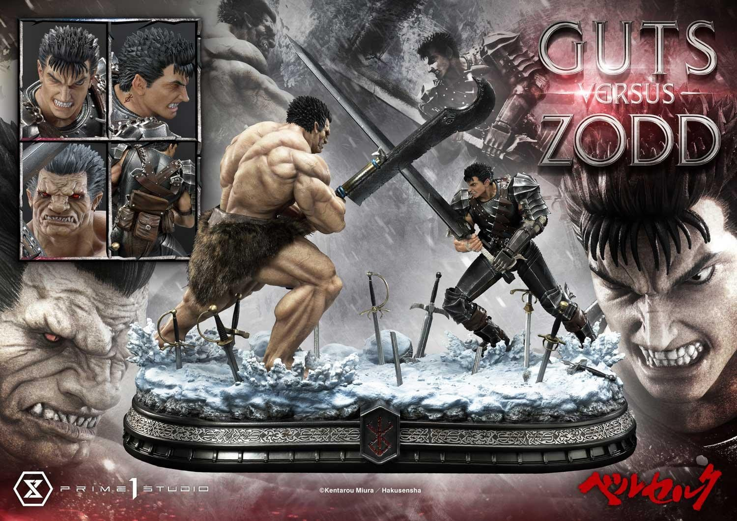 Prime 1 Studio Guts vs Zodd Standard Version Statue